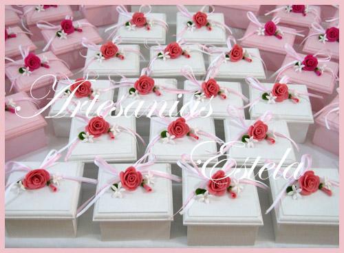 Souvenirs Para Bodas Cajitas con Flores   Souvenirs De Casamientos / Bodas
