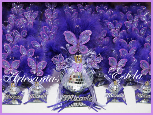 Souvenirs de 15 Años   Souvenirs De 15 Años Con Mariposas