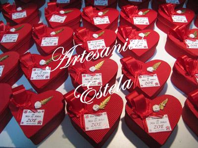 Souvenirs De 15 Años Cajitas Corazon De Carton. 72   Souvenirs De 15 Años   Cajas Corazon De Carton