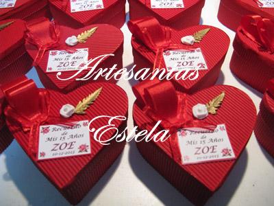 Souvenirs De 15 Años Cajitas Corazon De Carton. 82   Souvenirs De 15 Años
