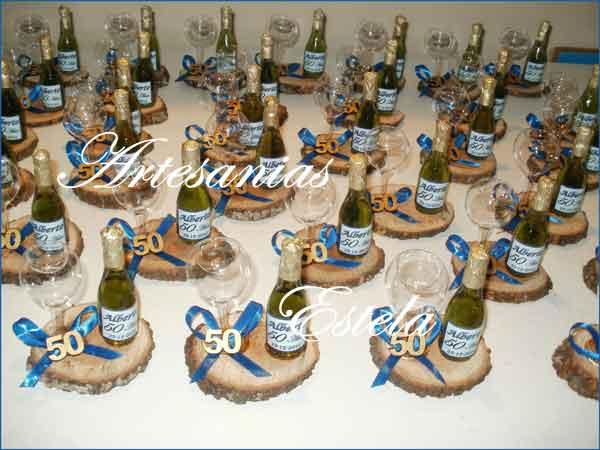 Souvenirs Cumpleaños 50 - Botellitas Personalizadas