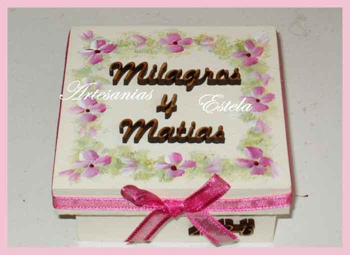Souvenirs Bodas Casamientos Cajitas personalizadas   Souvenir Casamiento   Cajitas De Madera
