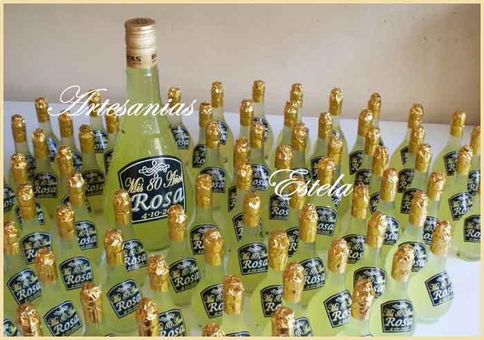 Souvenirs Botellitas De Lemoncello