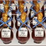 Souvenirs Para Cumpleaños 70 Años 150x150   Souvenirs  70 Años   Botellitas De Licor Personalizadas