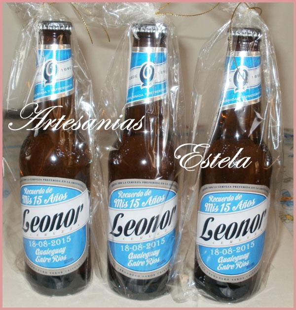 Souvenirs Botellitas De Cerveza Personalizadas   Souvenirs De 15 Años