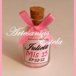 Souvenirs botelitas con sales de baño Souvenirs de 15 Años 150x150   Souvenirs De 15 Años