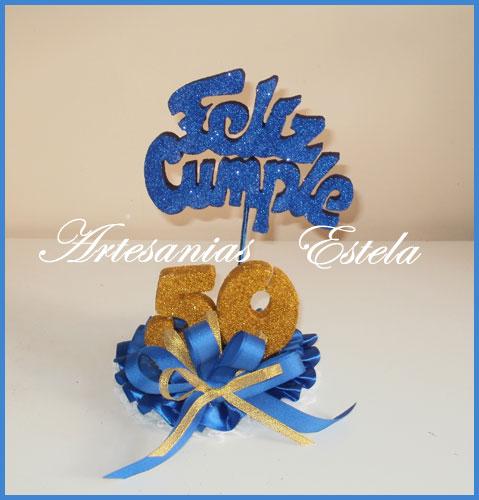 adorno para tortas cumplea os 50 a os artesanias estela
