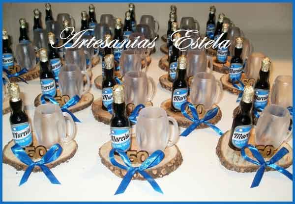 Souvenirs 50 Años-Botellitas De Cerveza Personalizadas