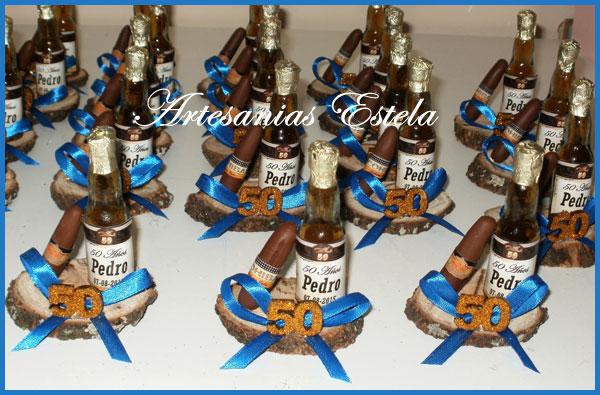 Souvenirs 50 Años Botellitas De Whisky Personalizadas