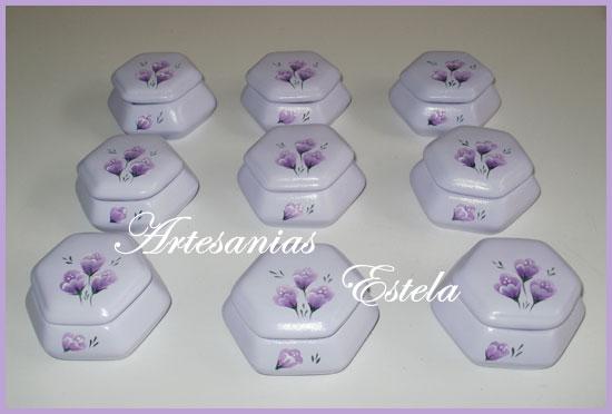 Souvenirs Cumpleaños 50 -Cajas De Ceramica Exagonales