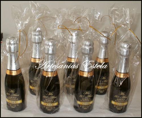 Botellitas de Champagne personalizadas.1   Botellitas De Champagne Personalizadas