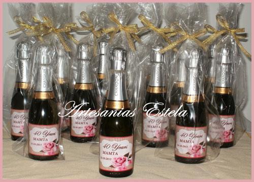 Botellitas de Champagne personalizadas.2   Botellitas De Champagne Personalizadas